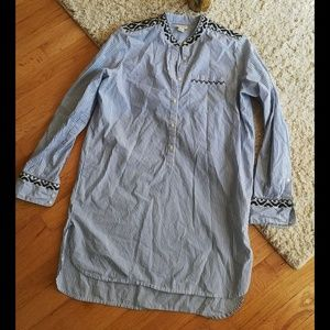 J. Crew Striped Tunic Shirt